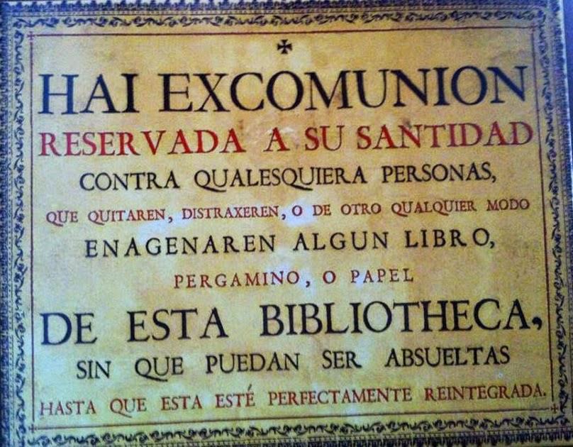 Cédula de excomunión de la Universidad de Salamanca