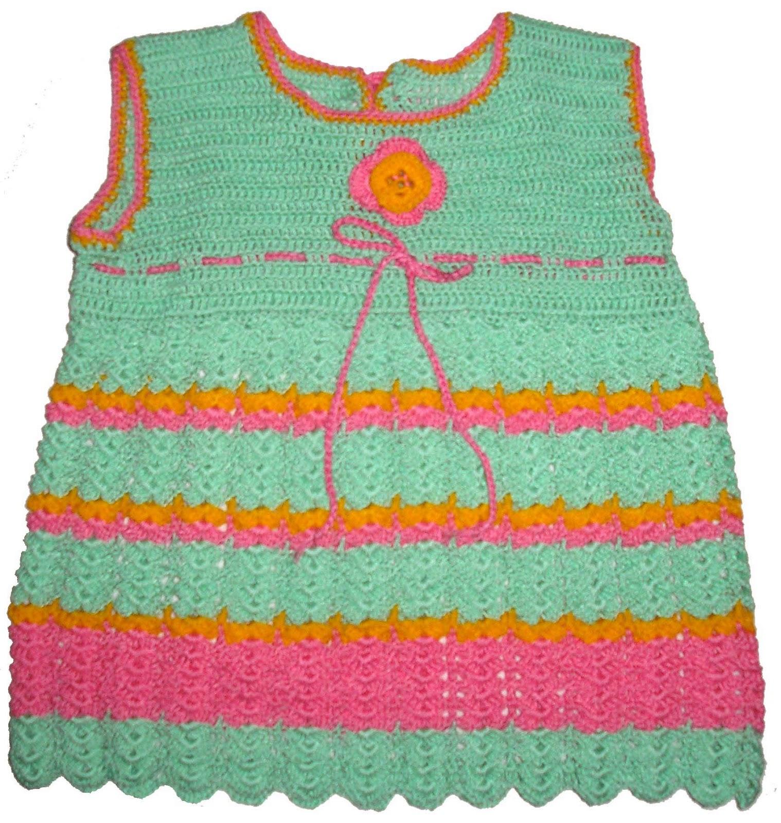 Tejidos carmes infantil vestidos de ni a tejidos a crochet - Heces color verde bebe 2 meses ...