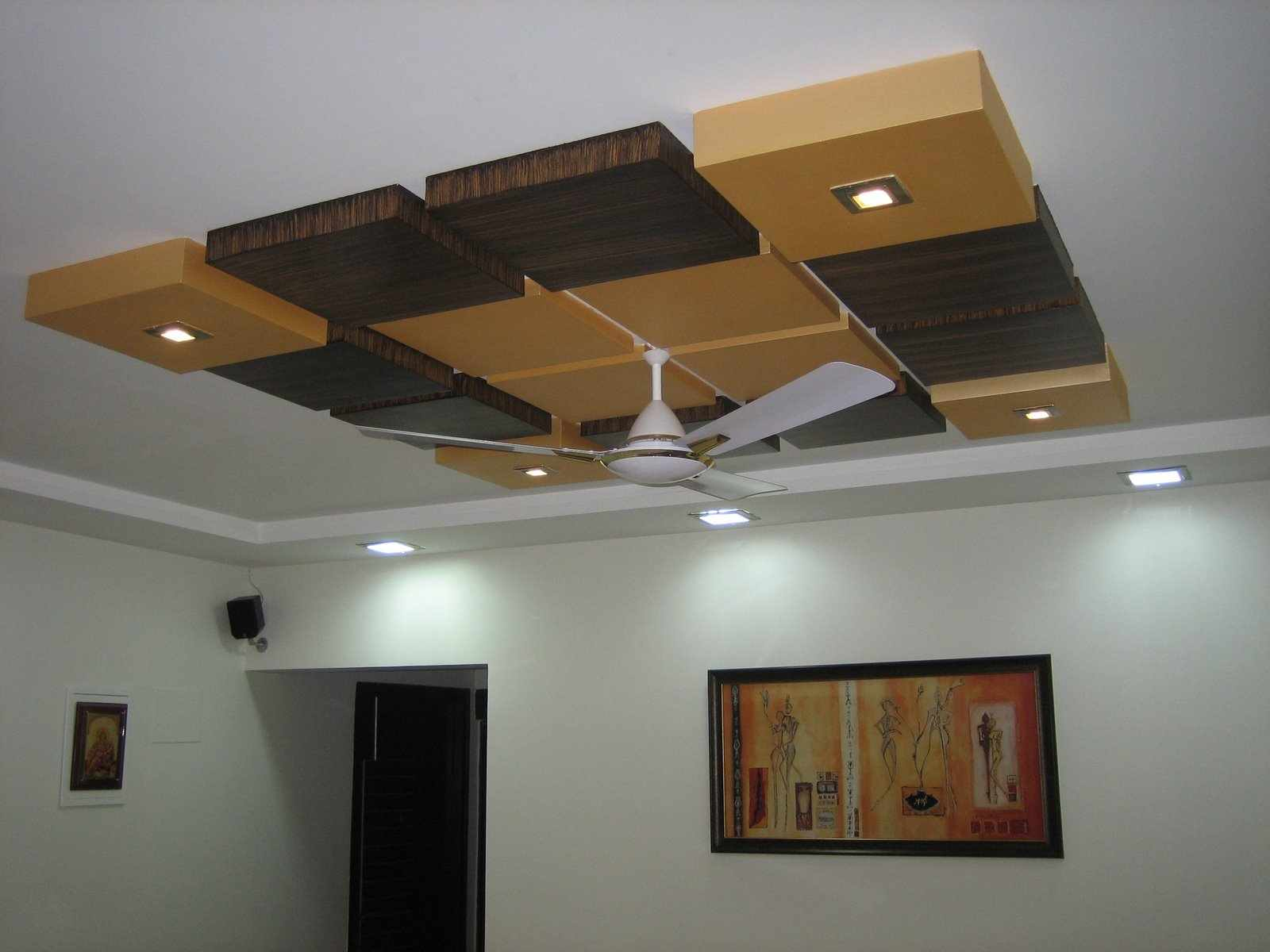 Modern pop false ceiling designs for bedroom interior 2014 - Wall ceiling designs for home ...