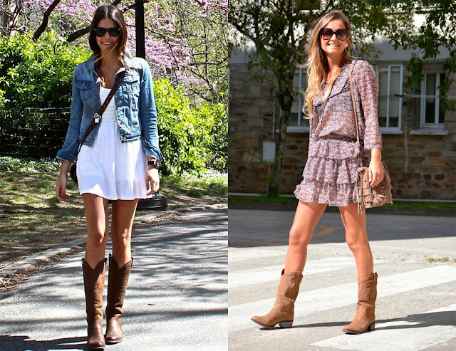 Looks ropa entretiempo vestido con botas