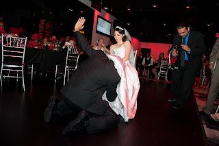 bride groom garter removal