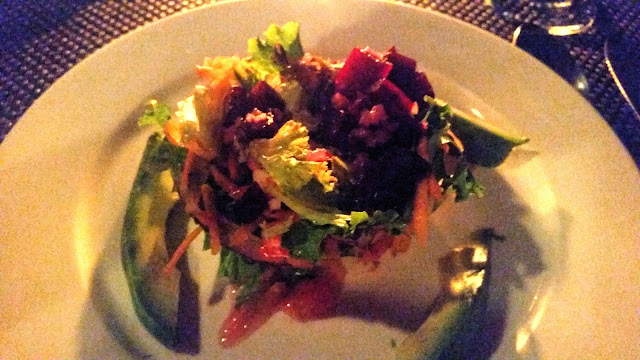 beet salad, Costa Rica, Tortuga Lodge