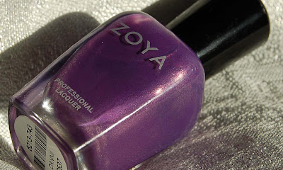 Zoya Dannii, a beautiful purple nail polish with sparkling glass flecks, nailpolish from the Zoya spring collection Intimate