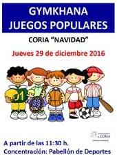 GYMKHANAS JUEGOS POPULARES. NAVIDAD 2016