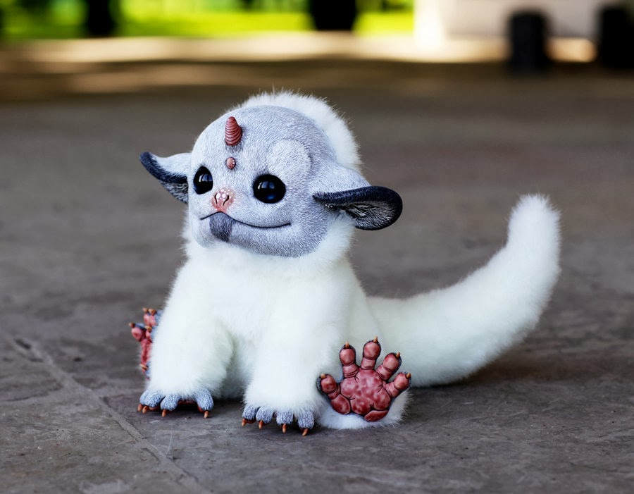09-My-Little Dragon-White-Unicorn-Tiny-Griffins-Santani-www-designstack-co