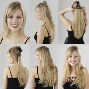 steps to apply clip in hair extensions
