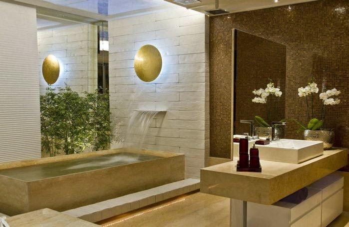 Banheiroslavabos com jardins de inverno e verticais – veja modelos e dicas!  -> Banheiro Pequeno Com Jardim De Inverno