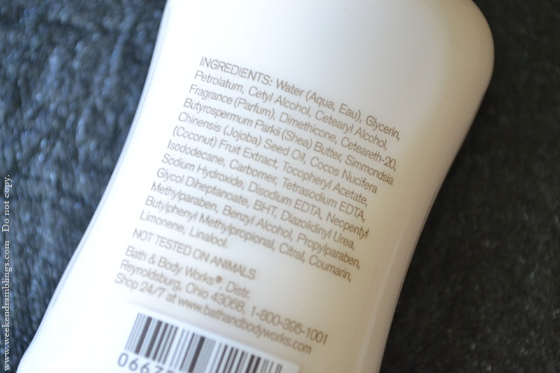 bath and body works signature collection coconut passionfruit lotion review ingredients