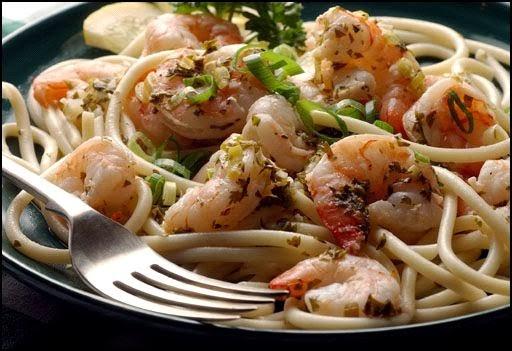 Shrimp-Pasta - طريقة عمل مكرونة اسباجتي بالروبيان (بالجمبرى)