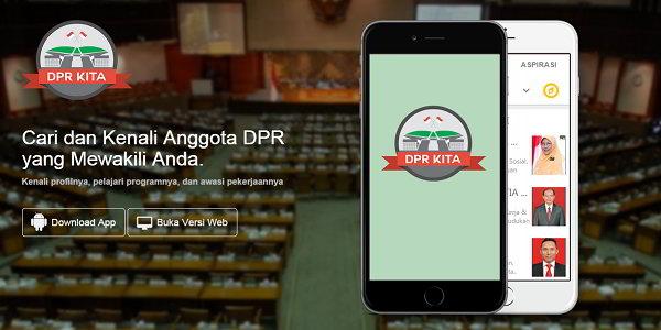 Aplikasi Pemantau Kinerja DPR di Berbagai Tempat