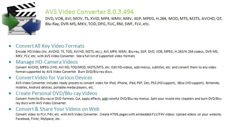 Avs video converter v6.4.1.416