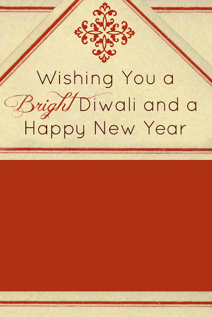 Free Diwali Photo Card or E-Card template for download by Make It Handmade