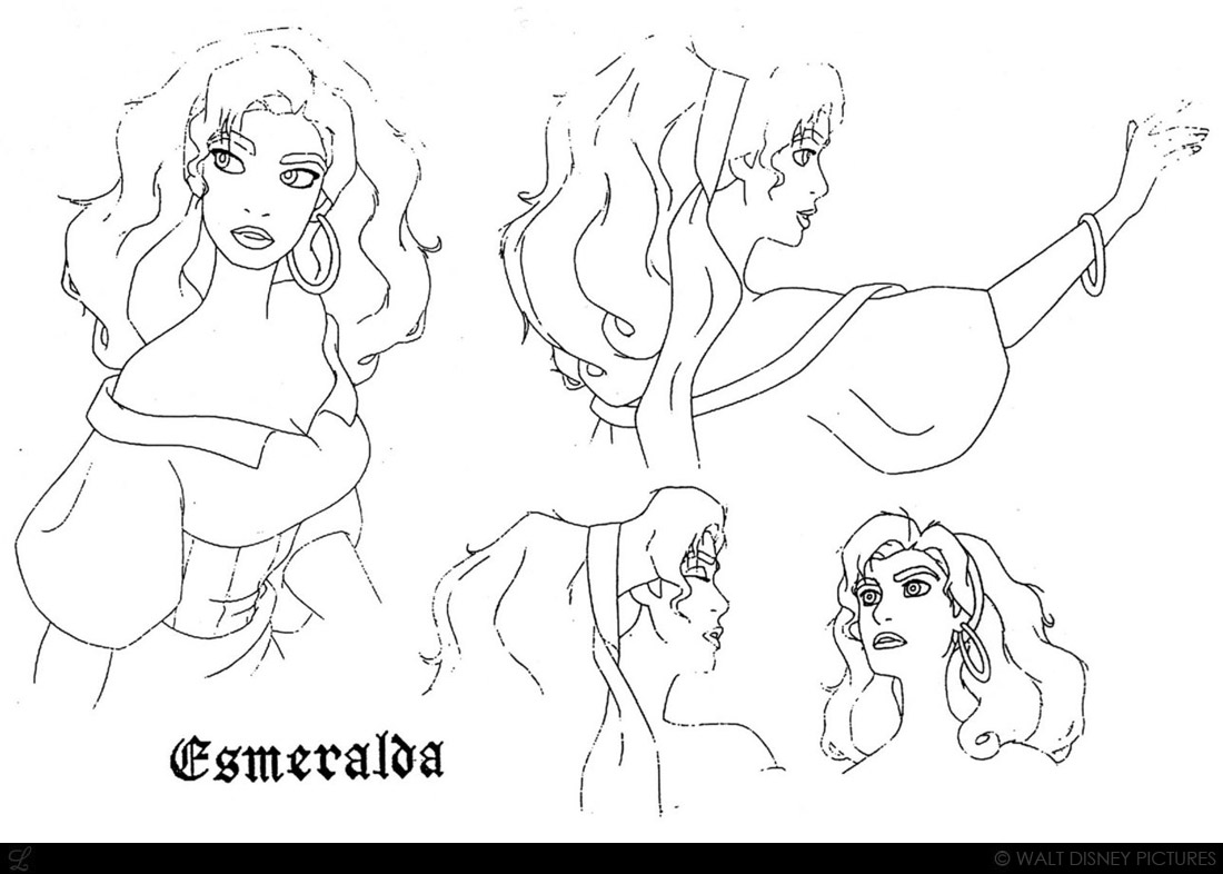 Princess esmeralda coloring pages - Disney Coloring Pages Hunchback Notre Dame By Jean Gillmore
