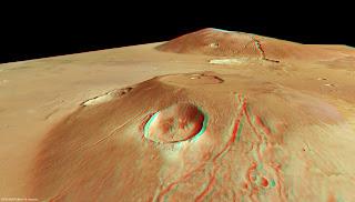 volcanes Marte 3D