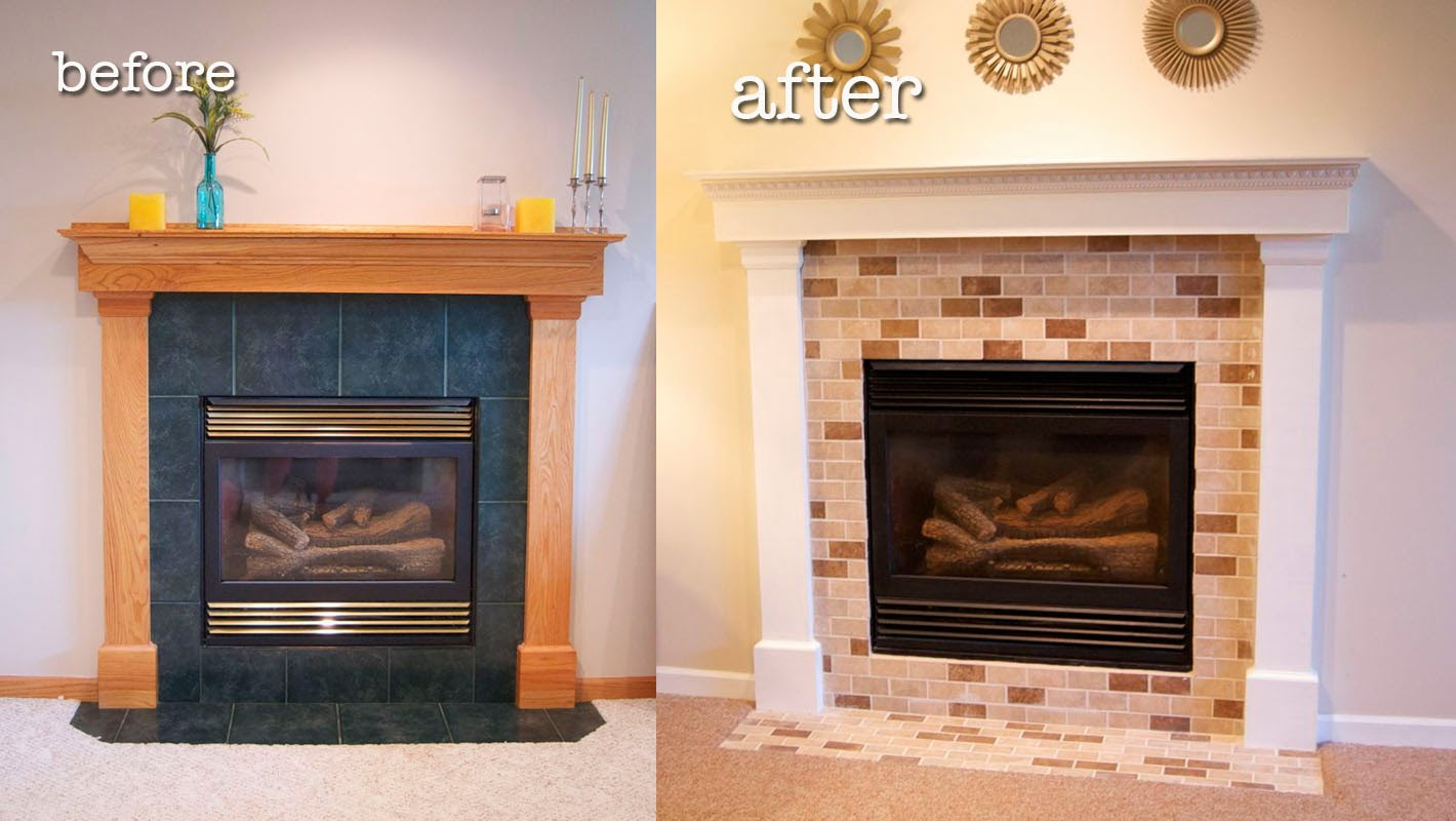 Before and After Fireplace Makeover | matsutake