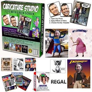 تحويل صورك إلي صور كاريكاتير caricature studio 6.6