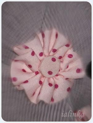 Цветок  из  материала