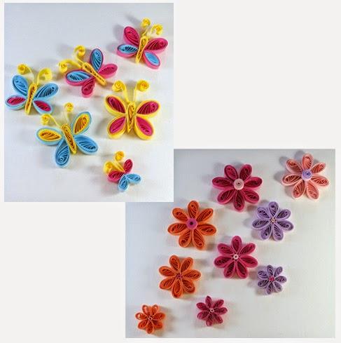 Filigraan sets voor vlinders en bloemen