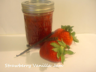 strawberry vanilla jam, strawberry jam