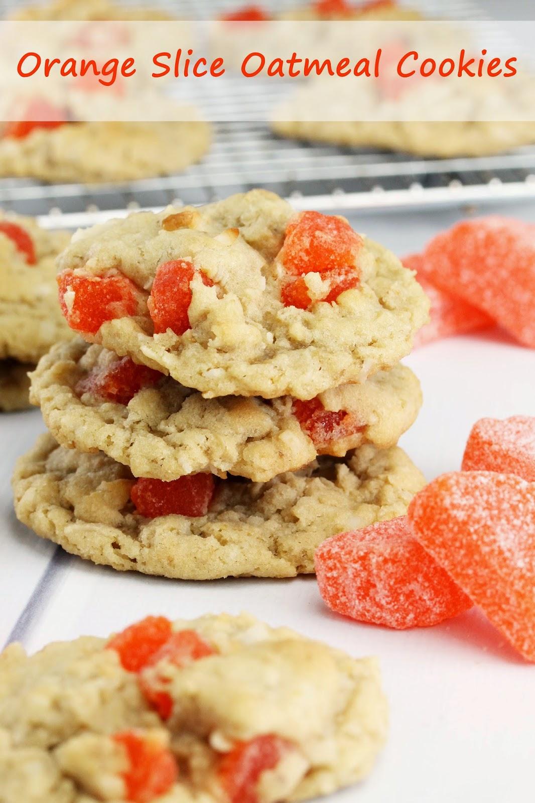 old fashioned orange slice oatmeal cookies