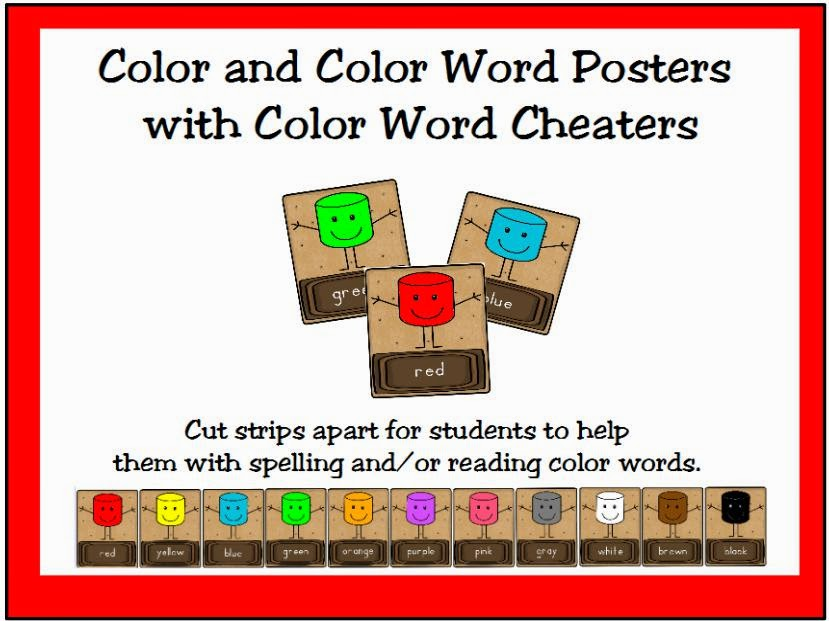 http://www.teacherspayteachers.com/Product/Smores-Color-and-Color-Word-Posters-1348395