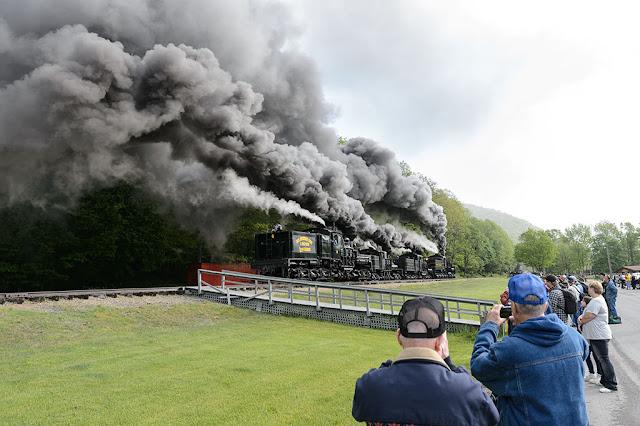 Plenty of steam at Cass Railfan Weekend