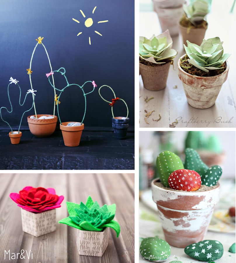 4 tutoriales para realizar cactus decoraci n for Cactus decoracion