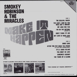 SMOKEY ROBINSON & THE MIRACLES - MAKE IT HAPPEN (TAMLA 1967) Jap mastering cardboard sleeve