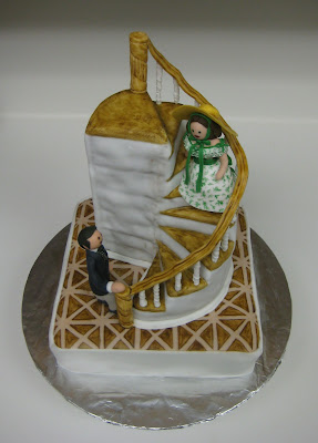 Gone With the Wind Staircase Cake with Rhett & Scarlett Figures - Overhead View