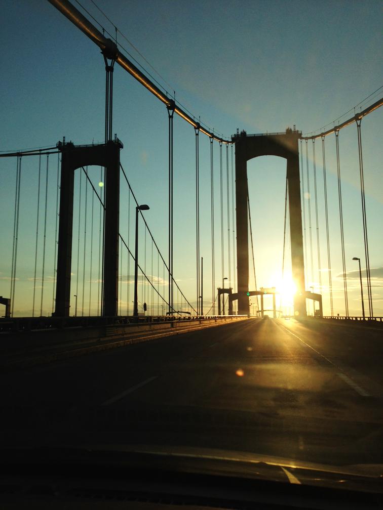 Delaware Heritage Bridge Sunset