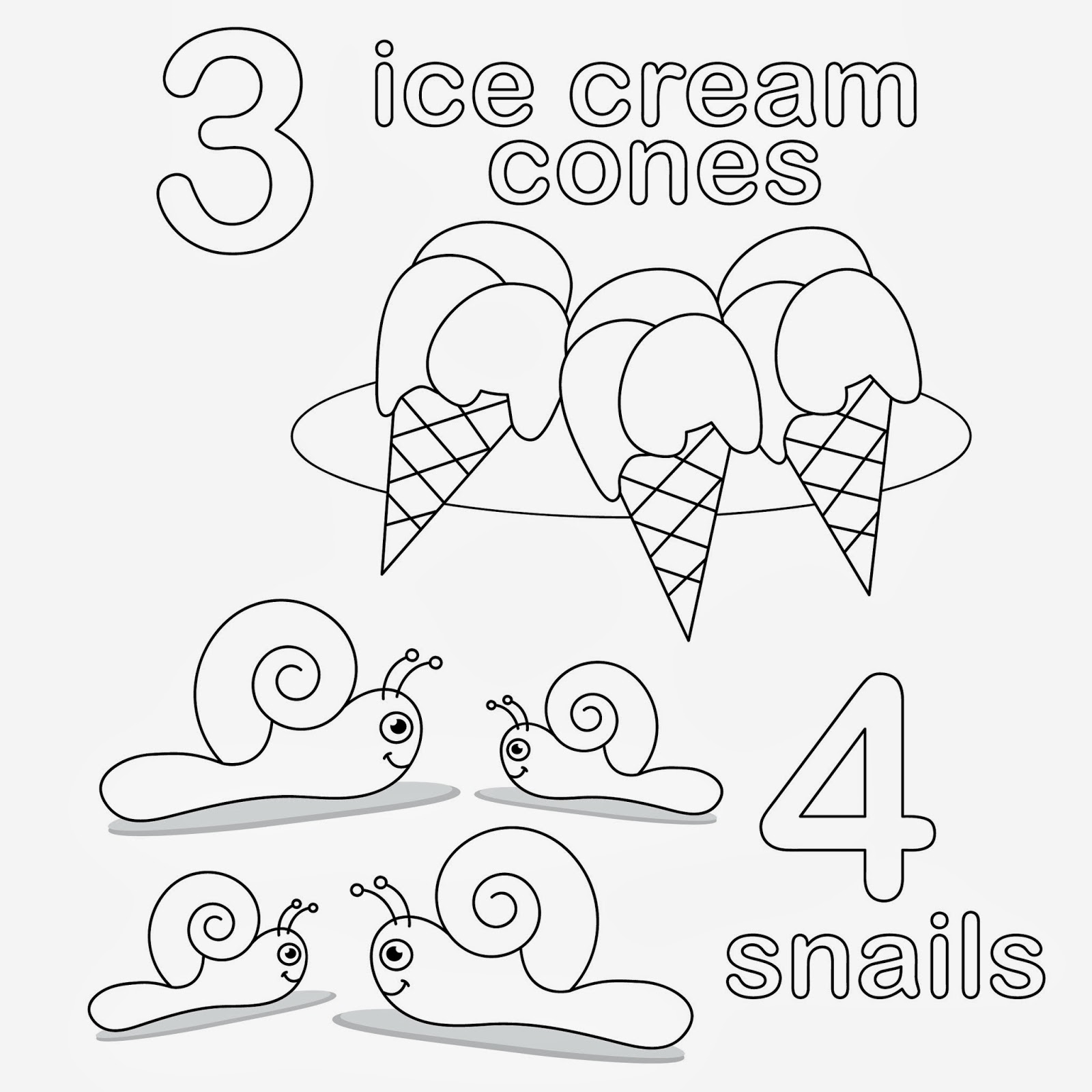 number and counting coloring pages - photo#5