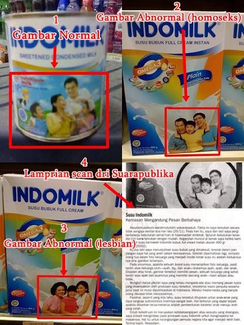 Pesan berbahaya dalam kemasan Susu Indomilk!