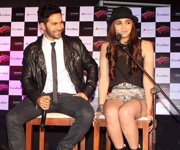 Varun Dhawan with Girlfriend Alia Bhatt Hot Mini Skirt HD Wallpapers