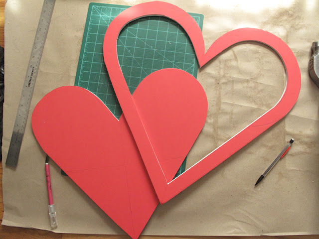 make a heart frame out of foam posterboard