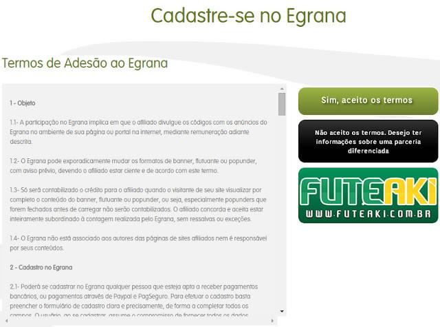 Tutorial de como ganhar dinheiro com seu site/blog através do Egrana!