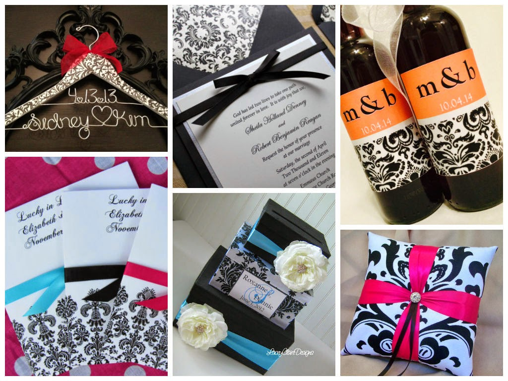 Damask Wedding Inspiration Board, curated by Sugarplum Garters
