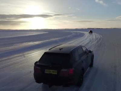 SUV Bentley Bentayga Testing In Winter