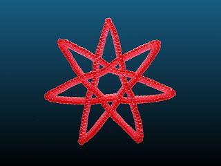 étoile à 7 branches en scoubidou