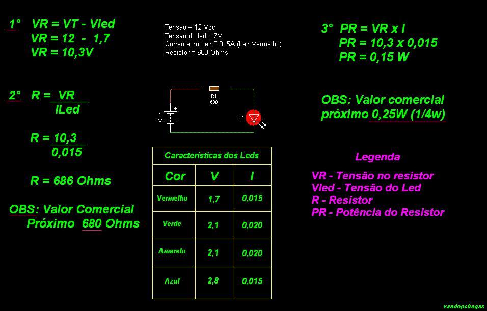 Estudando E Praticando Eletr 244 Nica Como Calcular Resistor