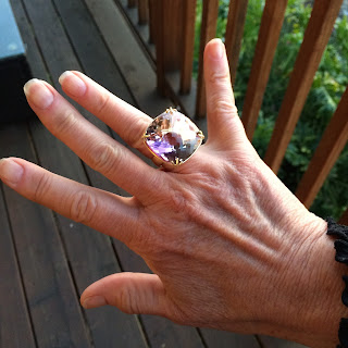 mozambican ametrine and 18k gold custom power ring by ali amaro