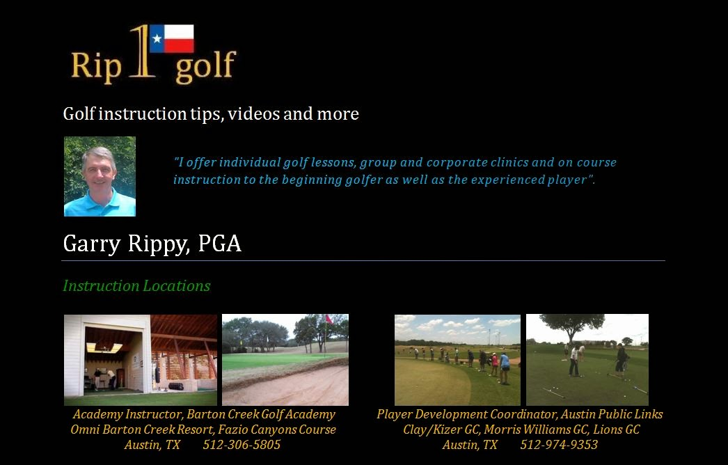 Rip One Golf Golf Instruction And Golf Lessons In Austin