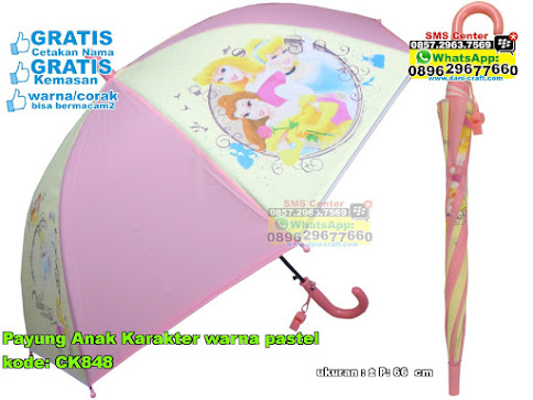 Payung Anak Karakter Warna Pastel