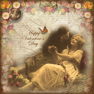 san valentín vintage inglés
