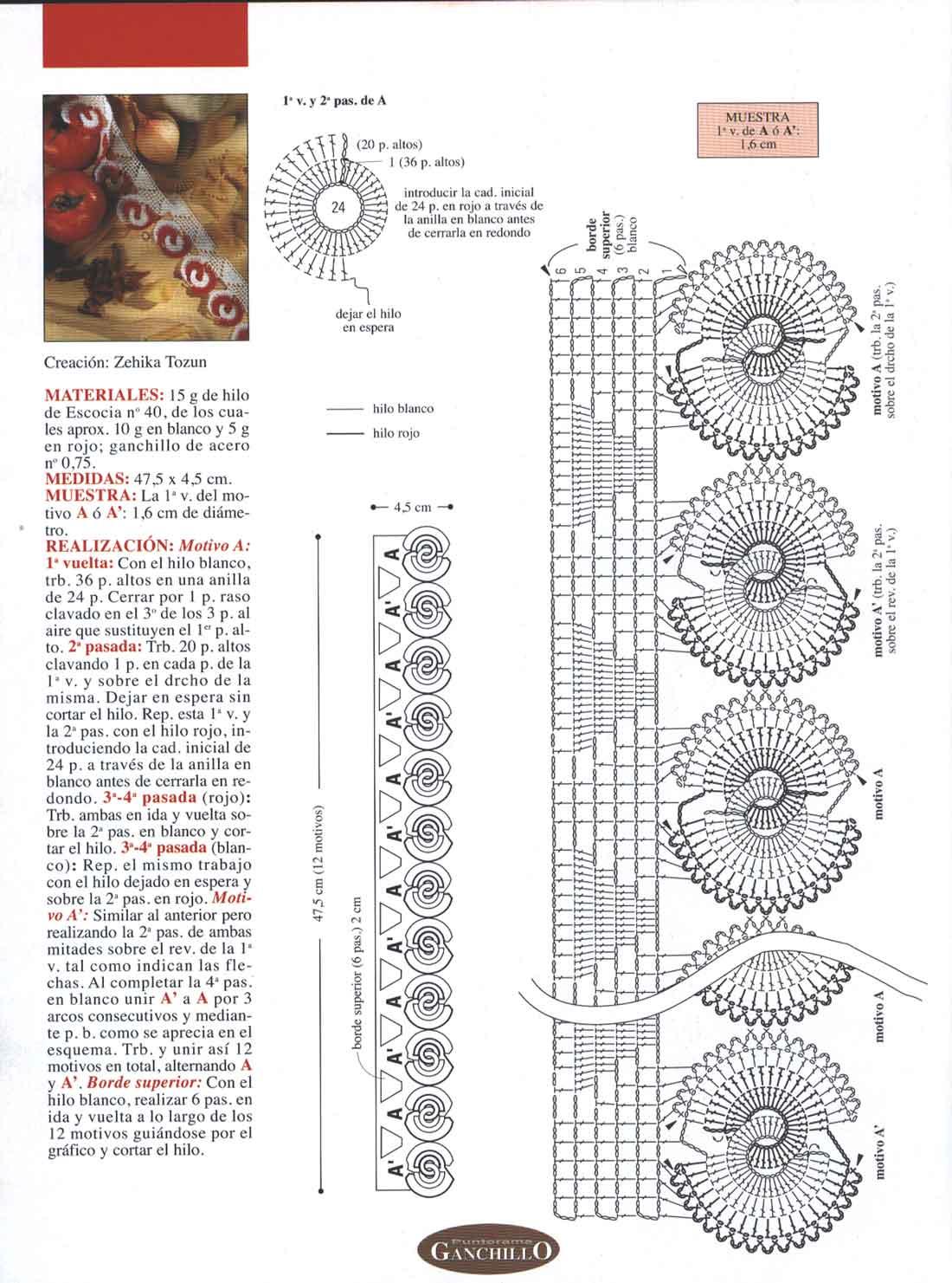 Todo gráficos: Gráficos / Patrones de pulseras de ganchillo / crochet