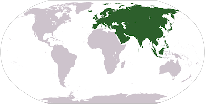 Map of Eurasia Locations