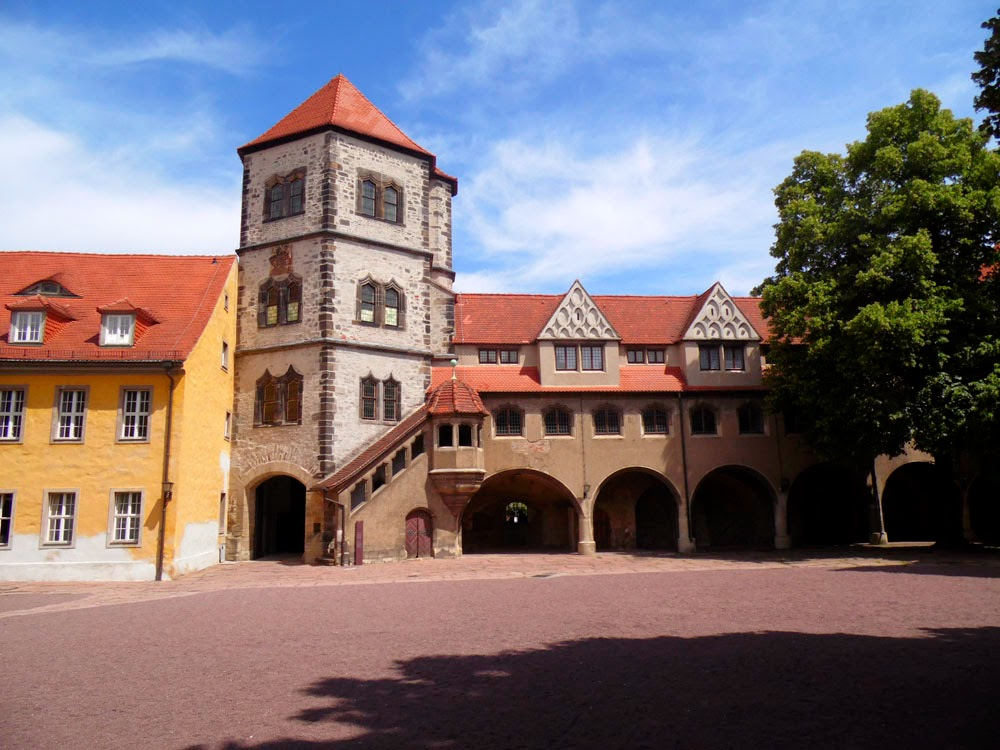 Courtyard, Moritzburg, Halle
