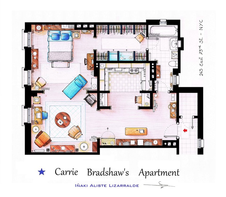 Monishiwa | Moonshine: At Home | TV-land apartment floor plans