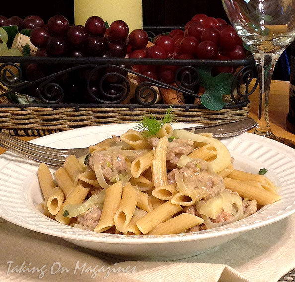Penne with Sausage, Fennel and Pecorino from Fine Cooking Magazine ...