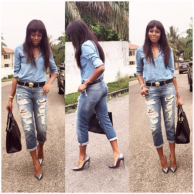 Yvonne Nelson Rocks a Denim on Denim