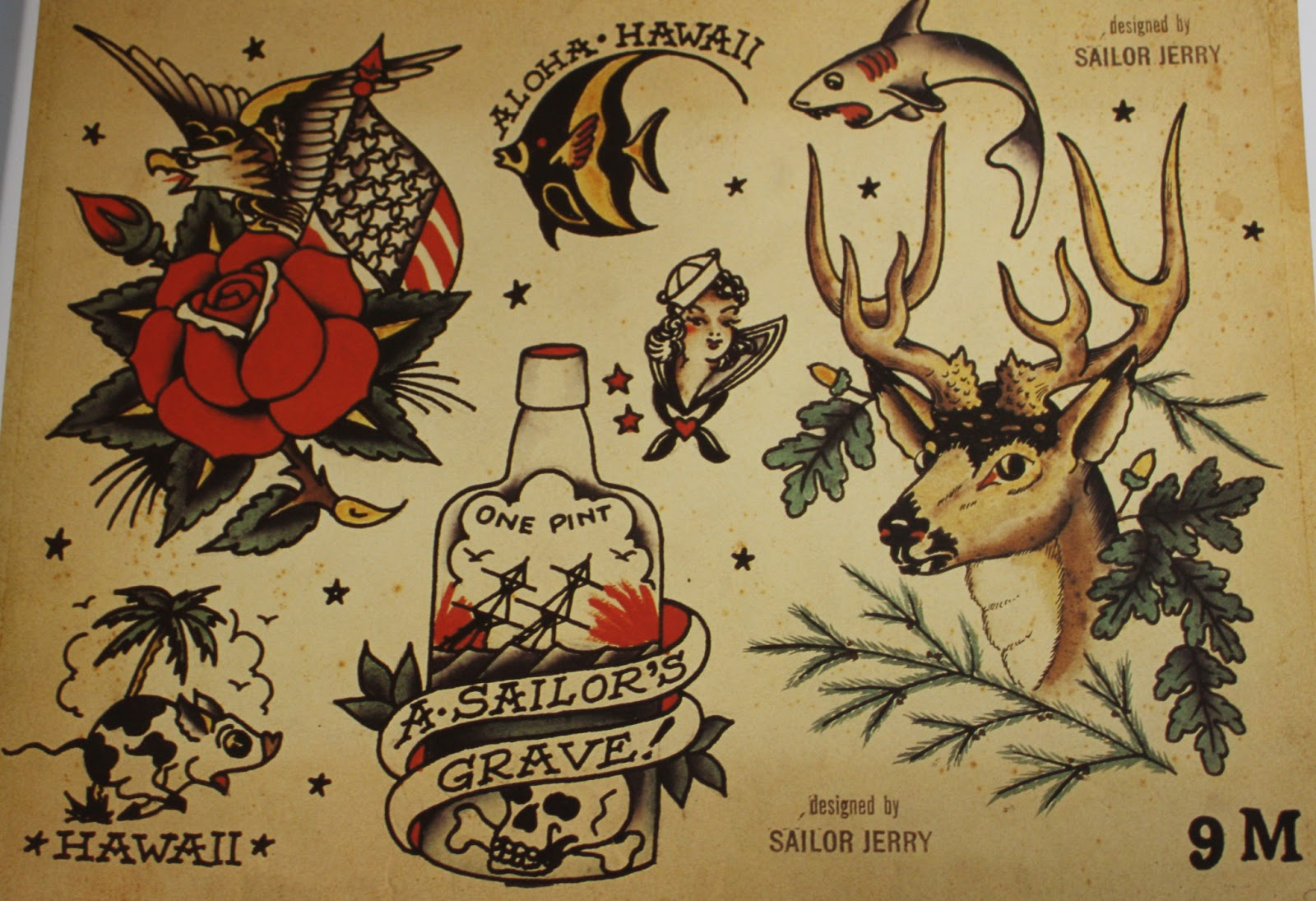 Sailor Jerry - Original Tattoo Flash 1